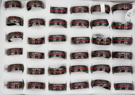 36 RVS Ringen - Zwart & Rood