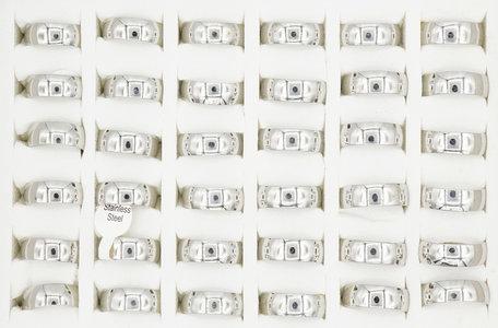 36 RVS Ringen - Zilver Gerhodineerd
