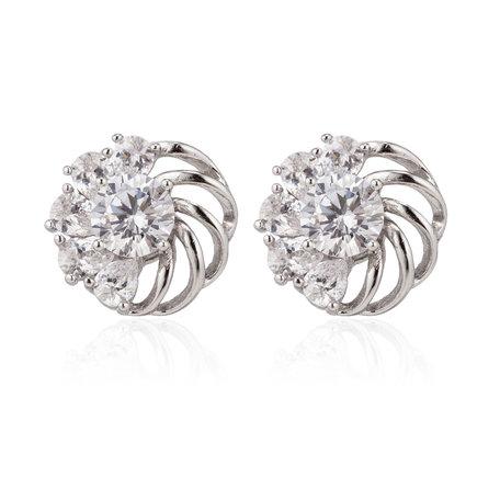 XUPING Oorbellen - Bloemen met Zirkonia Diamanten