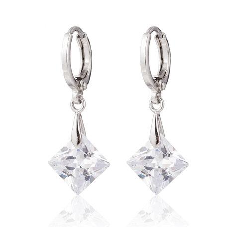 XUPING Oorbellen met Grote Zirkonia Diamant