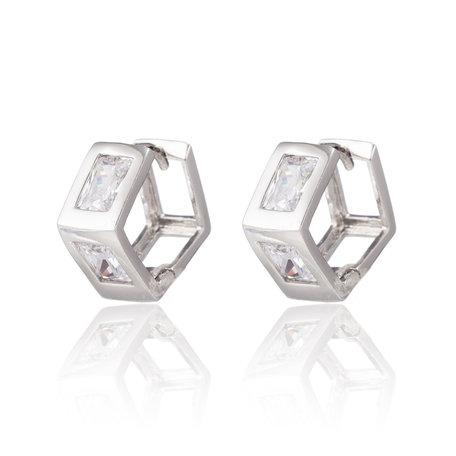 XUPING Oorbellen met Rechthoekige Zirkonia Diamanten