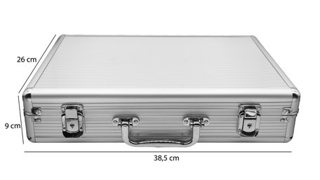 Aluminum case with handle for bracelets & watches 24 pockets