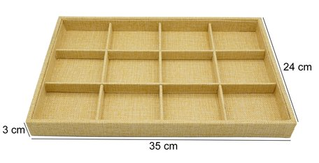 Watch Display Bamboo-Look 12 compartments