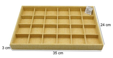 Watch Display Bamboo-Look 24 compartments