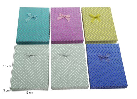 6 pieces Packing boxes chain 18x13x3 cm