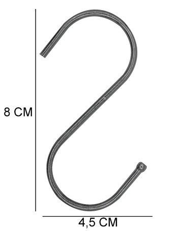 Metalen S-Haakje 8 cm