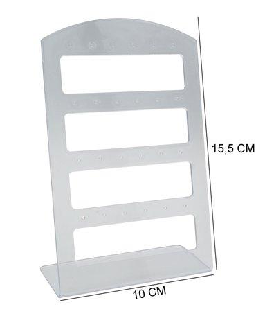 Oorbellen & Piercing Display Transparant voor 12 Paar - 20 Stuks