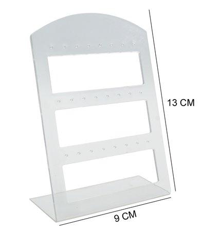 Oorbellen & Piercing Display Transparant voor 24 Oorbellen - 20 Stuks