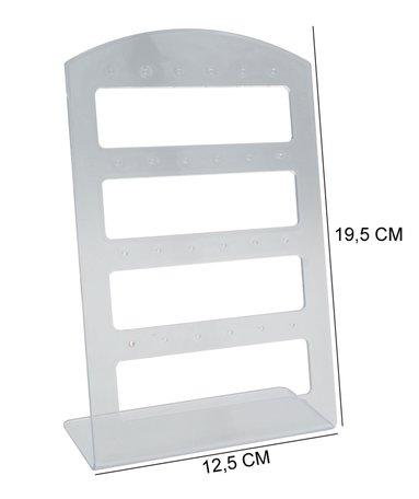 Oorbellen & Piercing Display Transparant voor 48 Oorbellen - 20 Stuks