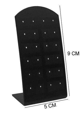 Oorbellen 12 paar & Piercing Display Zwart voor 24 Piercings - 20 Stuks
