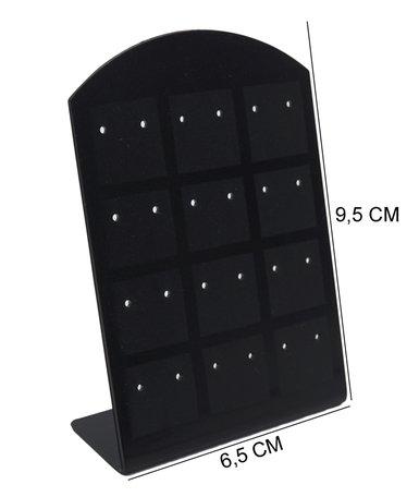 Oorbellen & Piercing Display Zwart voor 24 Piercings - 20 Stuks