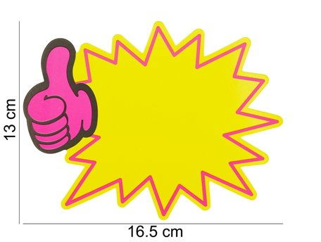 10 stuks Actie Kaarten 17.5x13.5 cm