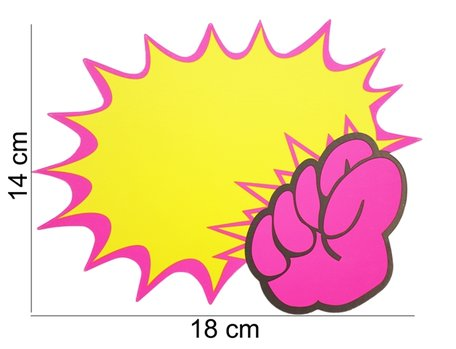 10 stuks Actie Kaarten 18x14 cm
