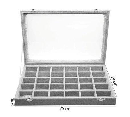 30 Vak Sieraden Accessoires Display Koffer