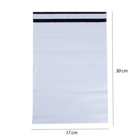50 stuks Plastic Verzend Enveloppen (17x30)