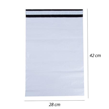 50 stuks Plastic Verzend Enveloppen (28x42)
