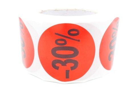 Prijs/Korting -30% stickers 500 stk