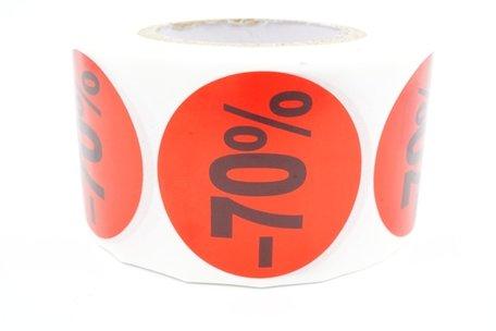 Prijs/Korting -70% stickers 500 stk