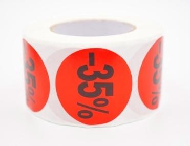 Prijs/Korting -35% stickers 500 stk