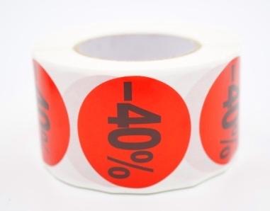 Prijs/Korting -40% stickers 500 stk