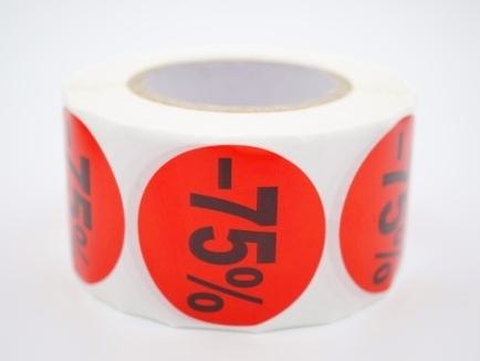 Prijs/Korting -75% stickers 500 stk