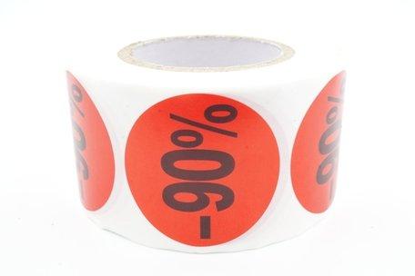 Prijs/Korting -90% stickers 500 stk