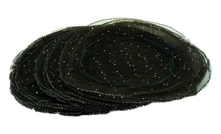 Organza Zak 50 Stuk Zwart kleur 24 cm