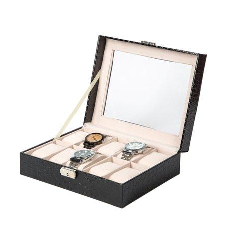Luxe Lederen Horloge Koffer 10 Vakken
