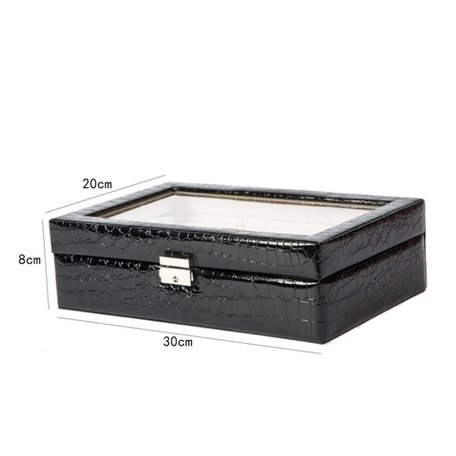 Luxe Lederen Horloge Koffer 12 Vakken