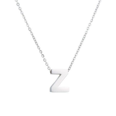 RVS Letter Z Ketting - Kleur Zilver