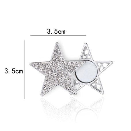 Magnetic Brooch Star with Rhinestones