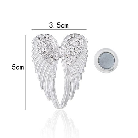 Magnetic Brooch Angel Wings - Silver