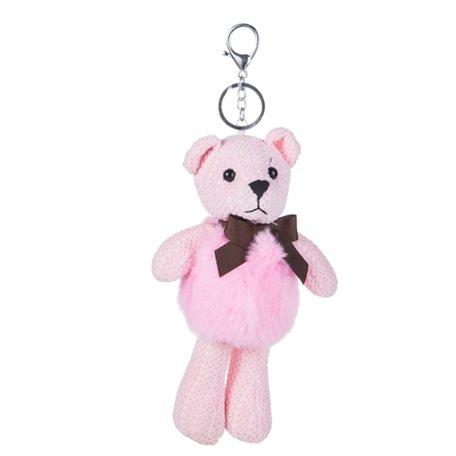 Sleutelhanger / Tashanger - Teddybeer 26cm -  Roze