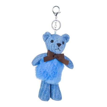 Sleutelhanger / Tashanger - Teddybeer 26cm - Blauw
