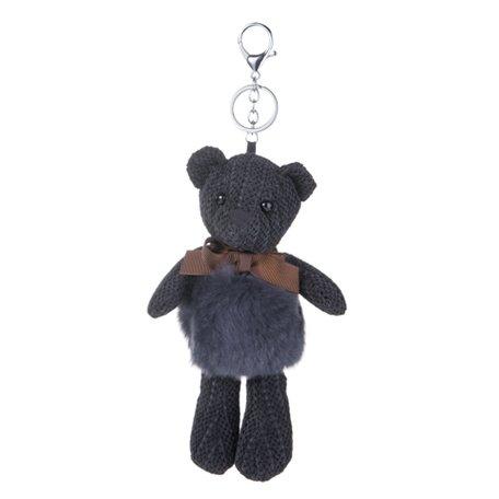 Sleutelhanger / Tashanger - Teddybeer 26cm - Zwart