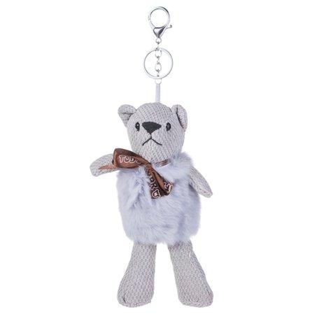 Sleutelhanger / Tashanger - Teddybeer 26cm - Grijs