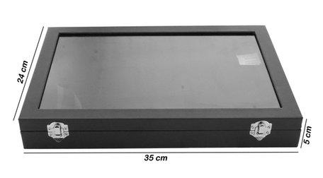 12 Vak Display Koffer Fluweel
