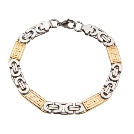 Konings-Armband Roestvrij Staal (Dikke Schakel)