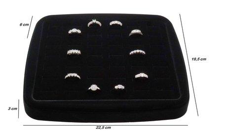 Luxe ringen display Fluweel voor 42 ringen