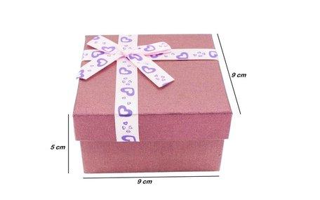 6 stuk Sieradendoosje voor armbanden/horloges Roze