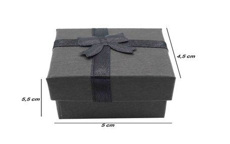 24 pcs jewellery Packaging boxes ring 5x5x3.5 cm Black