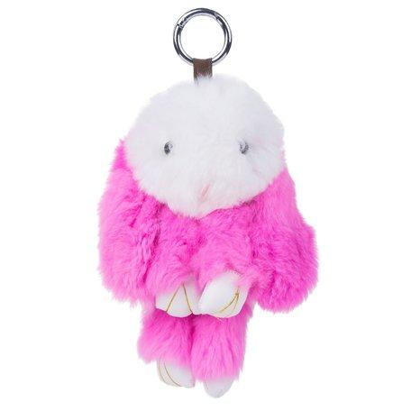 sleutelhanger Konijn 23cm Groot - Roze & Wit