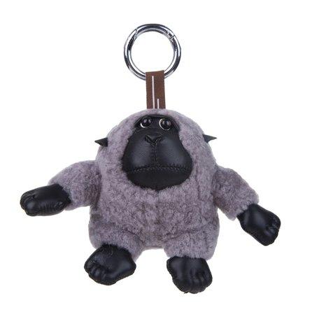 Sleutelhanger / Tashanger Baby Gorilla 15 cm Groot - Grijs