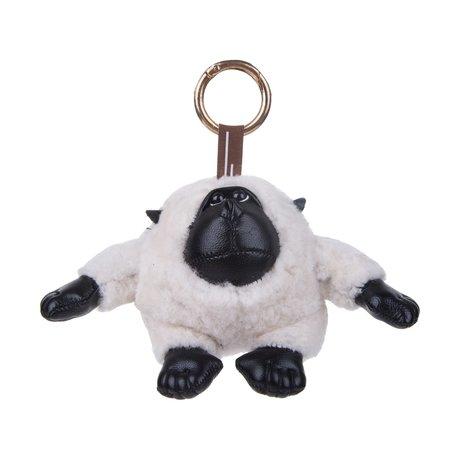Sleutelhanger / Tashanger Baby Gorilla 15 cm Groot - Wit