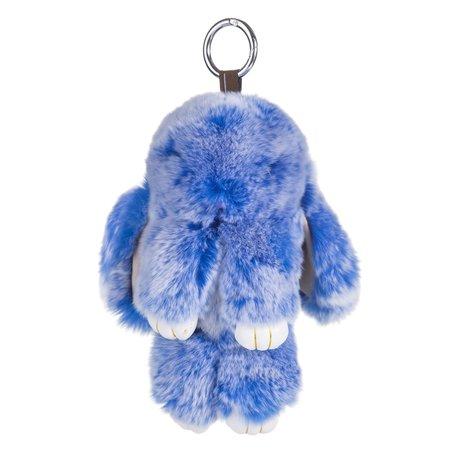 Sleutelhanger / Tashanger Fluffy Konijn Groot 23cm - Blauw