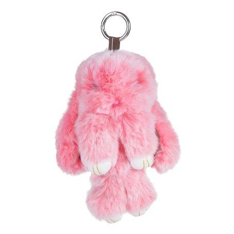 Sleutelhanger / Tashanger Fluffy Konijn Groot 23cm - Roze