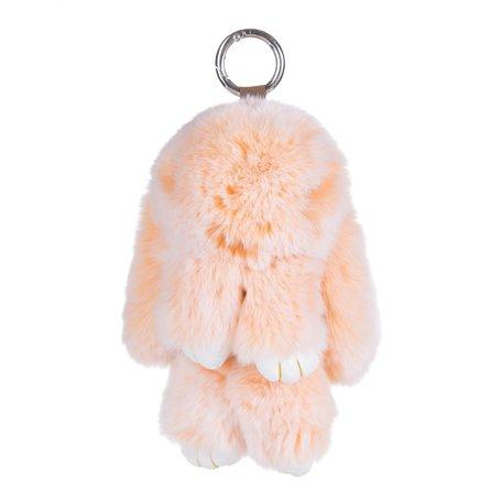 Sleutelhanger / Tashanger Fluffy Konijn Groot 23cm - Oranje