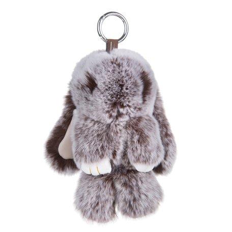 Sleutelhanger / Tashanger Fluffy Konijn Groot 23cm - Bruin