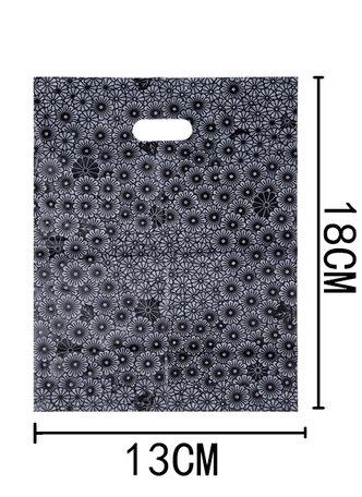 50 Stuks Plastic draagtas met gestanste handgrepen H18cm x B13cm