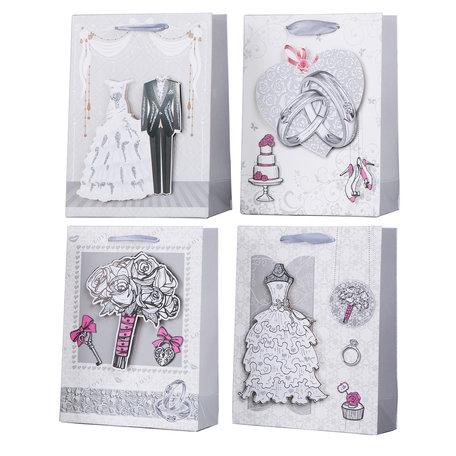 Mix geschenkzakken, prijs per 12 stuks 32x26x10 CM